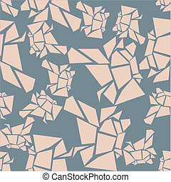 seamless chunky pink pattern - gray square filled with a...