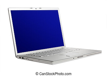 High-end aluminium laptop, tilt view - High-end aluminium...