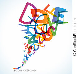 Abstract background with alphabet - Abstract background with...