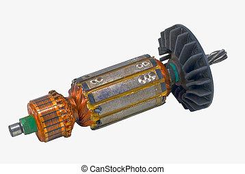 eléctrico, motor, rotor