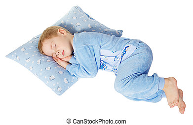 sleeping little child - cute little child sleeping on...