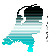 Map of Netherlands