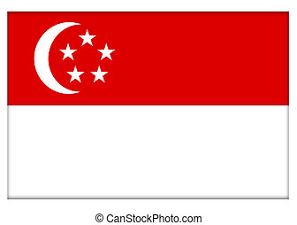 Republic of Singapore Flag Illustration