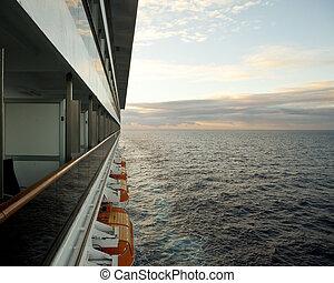 Schiff, Ansicht, Balkon