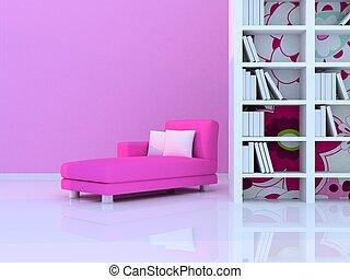 interior, moderno, habitación