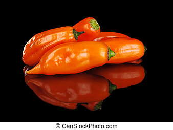 Peruvian Hot Pepper Called Aji - A bunch of ajis Peruvian...