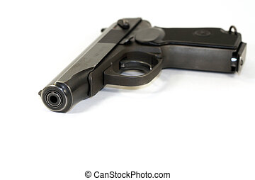 Russian pistol of Makarov 9mm. This is the replica, but...