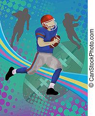 American football poster - Grunge american football poster...