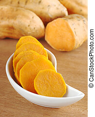 Cooked Sweet Potato - Cooked sweet potato lat Ipomoea...