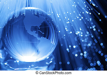 Earth and fiber optics - Earth fiber optics