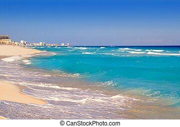 Cancun caribbean sea beach shore turquoise water