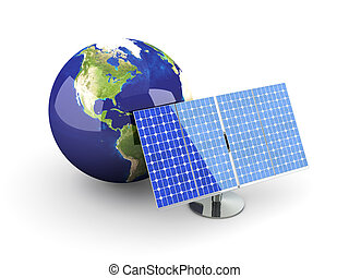 Alternative Energy - America - 3D rendered Illustration...
