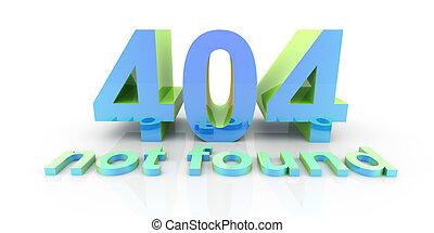 404 - 3D rendered Illustration Isolated on white