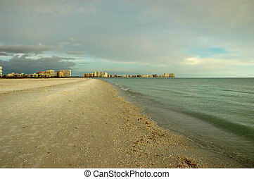 Marco Island before sunset - Beach view of Marco Island,...