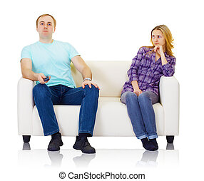 Husband and wife do not find mutual understanding isolated...