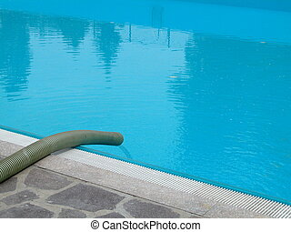 Feeding water into a swimming pool