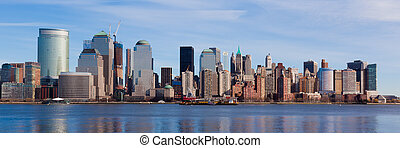 New York - panoramic view of Manhattan skyline - New York -...