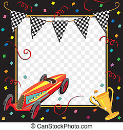 Race Car Party Invitation - Colorful race car party...