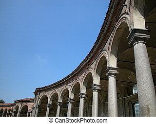 Arcade of Rotonda Besana, Milan - View of ancient arcade of...