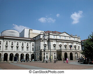 Scala theater in Milan - Worlds famous theater Scala in...