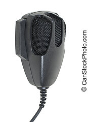 Microphone used to communicate via citizen band radio - path...