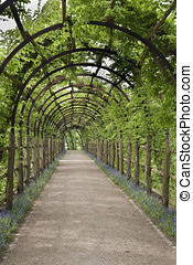 Pergola near the palace at Schwerin, Germany