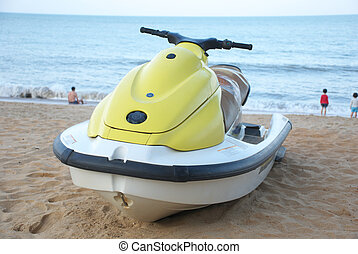 motorboat on beach