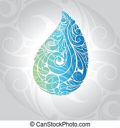 waterdrop vector illustration