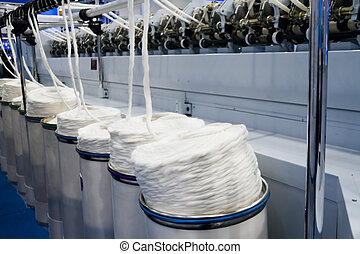 Textile factory - Cotton yarn production in a textile...