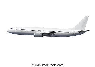 airplane with path - commercial airplane on white background...