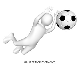 Soccer goalkeeper - A soccer goalkeeper is catching the ball