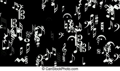 Music Notes,treble clef,sharp,flat.