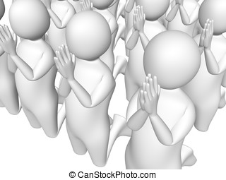 Prayers - A group of men are praying Spirituality and faith...