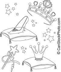 Princess Collectibles coloring pag - Beautiful princess...