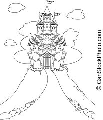 Magic Castle coloring page - Coloring page with Magic Fairy...