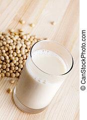 Soja, leite