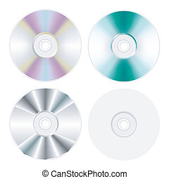 disk, dvd, cd isolated set