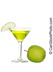 apple martini with fruit