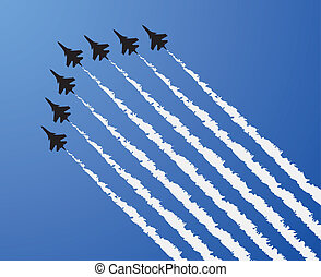 vector airplane show