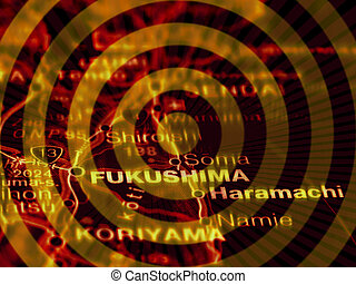 Accident Fukushima - Illustration of the nuclear accident at...