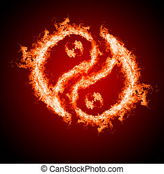Symbol of yin and yang of the background. - Symbol of yin...