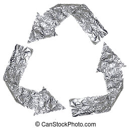 Aluminium Recycle Symbol - The recycle symbol made out of...