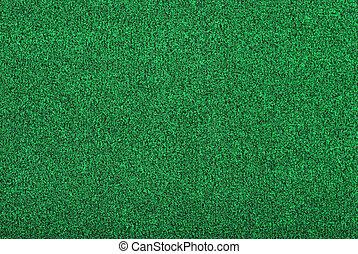 artificial golf green grass making a background