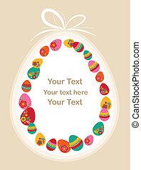Easter egg frame for greeting card