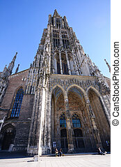 Ulm, Germany - Ulm Minster, the worlds tallest church tower