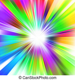 A multicolor design with a burst EPS 8 vector file included