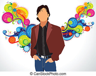 abstract magical colourful silhouette vector illustration