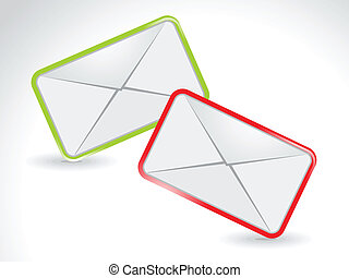 abstract colourful mail icon vector illustration