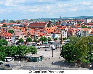 Erfurt, Germany - Old Town and Marktplatz in Erfurt, Germany