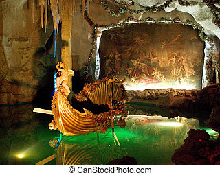 Venus Grotto of the Linderhof Palace in Oberammergau,...